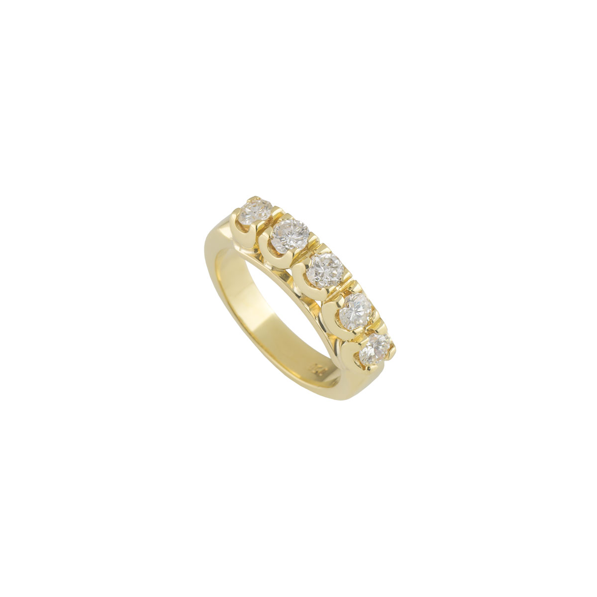 Yellow Gold Diamond Ring 1.00ct I/SI1